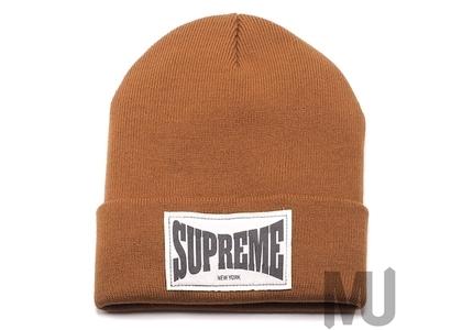 Supreme Woven Label Beanie Rustの写真