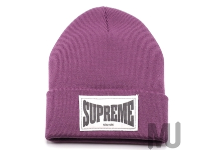 Supreme Woven Label Beanie Dusty Purpleの写真