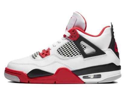 Nike Air Jordan 4 Retro Fire Red GSの写真