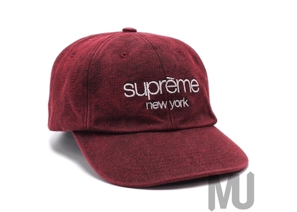 Supreme 2-Tone Canvas 6-Panel Redの写真