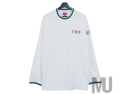 Supreme Multi Color Logo L/S Top Whiteの写真