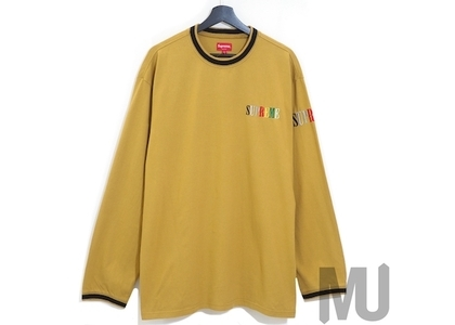 Supreme Multi Color Logo L/S Top Dark Goldの写真