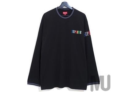 Supreme Multi Color Logo L/S Top Blackの写真