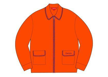 Supreme Checkerboard Zip Up Sweater Orangeの写真