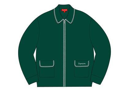Supreme Checkerboard Zip Up Sweater Greenの写真