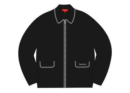 Supreme Checkerboard Zip Up Sweater Blackの写真
