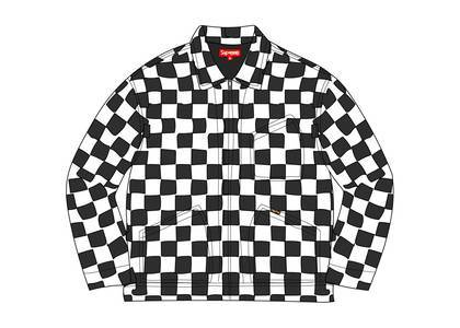 Supreme Velvet Work Jacket Checkerboardの写真