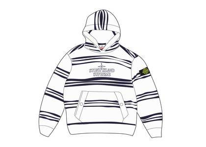 Supreme Stone Island Warp Stripe Hooded Sweatshirt Whiteの写真