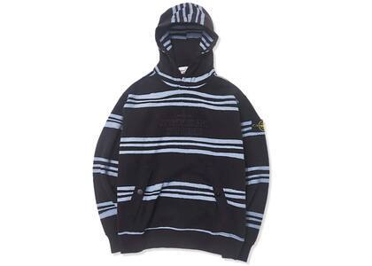 Supreme Stone Island Warp Stripe Hooded Sweatshirt Blackの写真