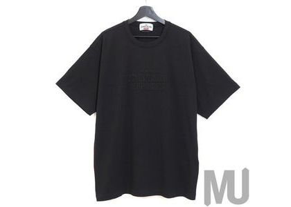 Supreme Stone Island Embroidered Logo S/S Top Blackの写真