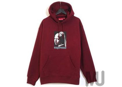 Supreme Pearl Hooded Sweatshirt Cardinalの写真
