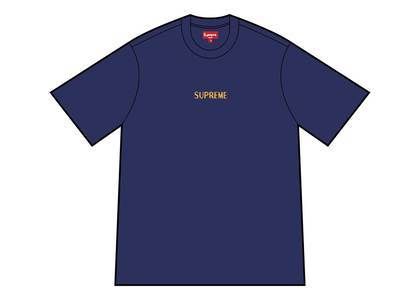 Supreme Bullion Logo S/S Top Washed Navyの写真