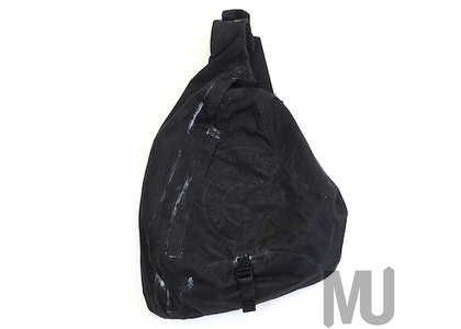 Supreme Stone Island Printed Camo Nylon Shoulder Bag Blackの写真