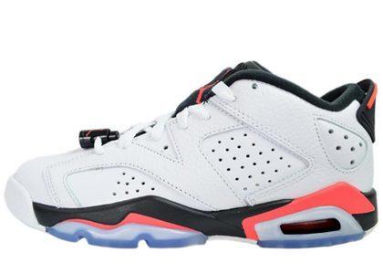 Nike Air Jordan 6 Retro Low White Infrared 23 Black GSの写真