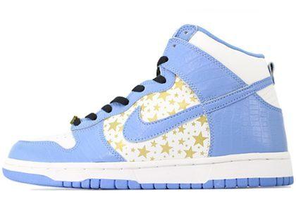 Supreme × Nike SB Dunk High Pro  Blue Starsの写真