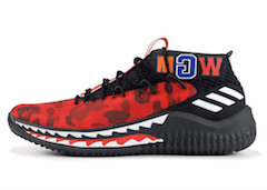 DAME 4 A BATHING APE REDの写真