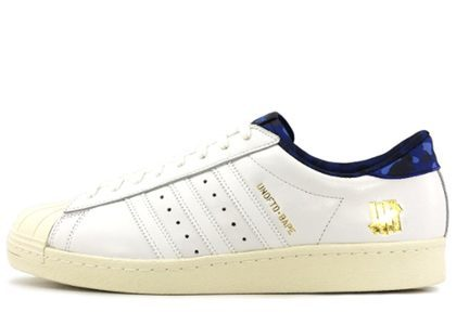 Undefeated × Bape × Adidas Superstar 80s Whiteの写真