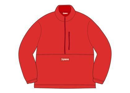 Supreme × Polartec Half Zip Pullover Redの写真