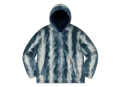Supreme Faux Fur Reversible Hooded Jacket Ice Blue