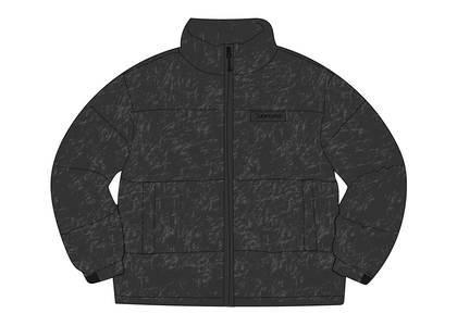 Supreme Reflective Speckled Down Jacket Blackの写真