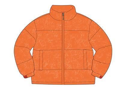 Supreme Reflective Speckled Down Jacket Orangeの写真