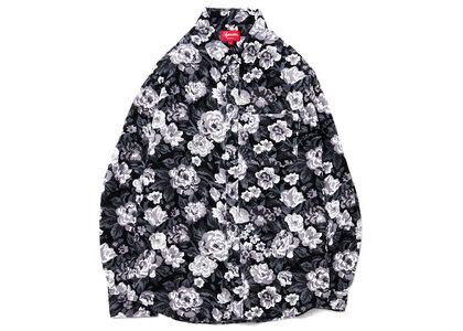 Supreme Digi Floral Corduroy Shirt Blackの写真
