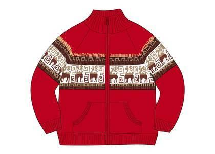 Supreme Chullo WINDSTOPPER® Zip Up Sweater Redの写真