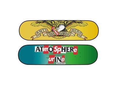 """Supreme × ANTIHERO Skateboard Multi Green 8.5 x 32.25"""""""