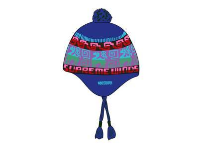 Supreme Chullo WINDSTOPPER® Earflap Beanie Blueの写真