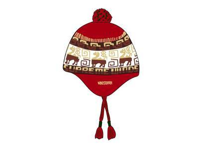 Supreme Chullo WINDSTOPPER® Earflap Beanie Redの写真