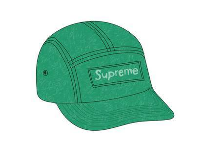 Supreme Reflective Speckled Camp Cap Greenの写真