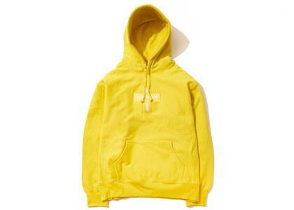 Supreme Cross Box Logo Hooded Sweatshirt Lemonの写真