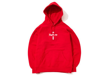 Supreme Cross Box Logo Hooded Sweatshirt Redの写真