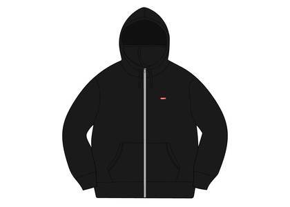 Supreme Small Box Facemask Zip Up Hooded Sweatshirt Blackの写真
