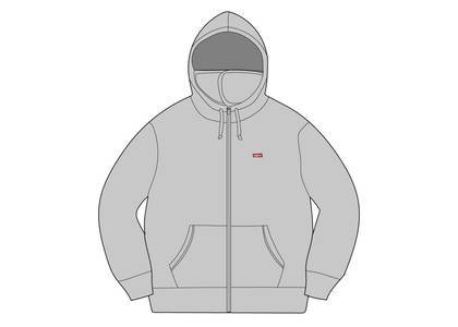 Supreme Small Box Facemask Zip Up Hooded Sweatshirt Heather Greyの写真