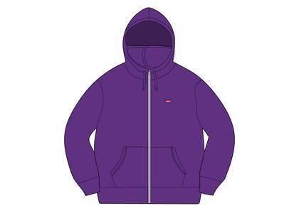 Supreme Small Box Facemask Zip Up Hooded Sweatshirt Purpleの写真