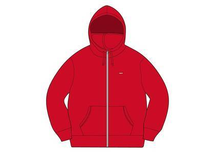 Supreme Small Box Facemask Zip Up Hooded Sweatshirt Redの写真