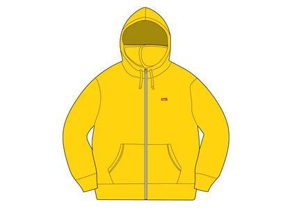 Supreme Small Box Facemask Zip Up Hooded Sweatshirt Yellowの写真