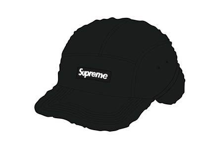 Supreme Deep Pile Earflap Camp Cap Blackの写真