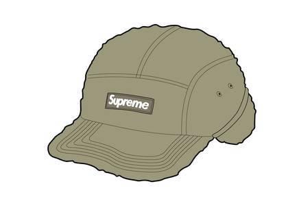 Supreme Deep Pile Earflap Camp Cap Oliveの写真