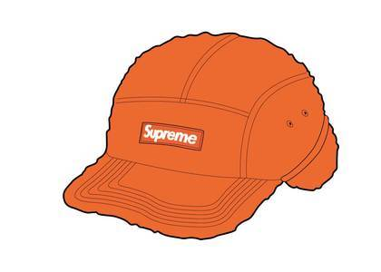 Supreme Deep Pile Earflap Camp Cap Orangeの写真