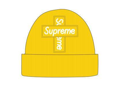 Supreme New Era Cross Box Logo Beanie Lemonの写真