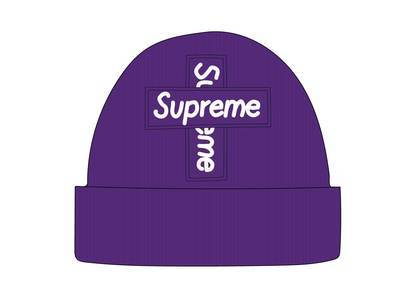 Supreme New Era Cross Box Logo Beanie Purpleの写真