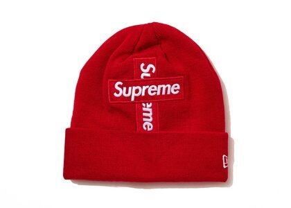 Supreme New Era Cross Box Logo Beanie Redの写真