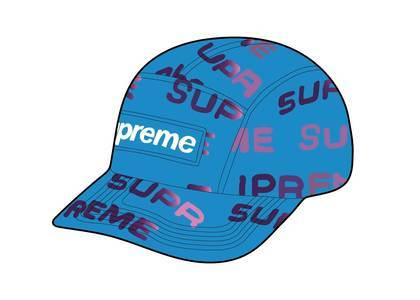 Supreme Reactive Print Camp Cap Blueの写真