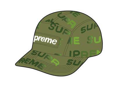 Supreme Reactive Print Camp Cap Oliveの写真