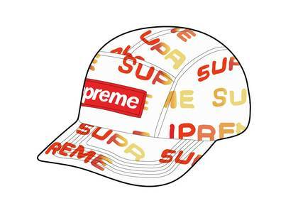 Supreme Reactive Print Camp Cap Whiteの写真