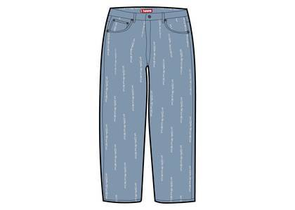 Supreme Logo Stripe Jacquard Regular Jean Blueの写真