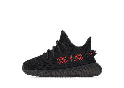 Adidas Yeezy Boost 350 V2 Black Red Infantsの写真