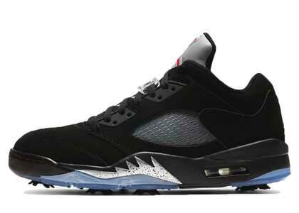 Nike Air Jordan 5 Low Golf Black MetallIc Silverの写真